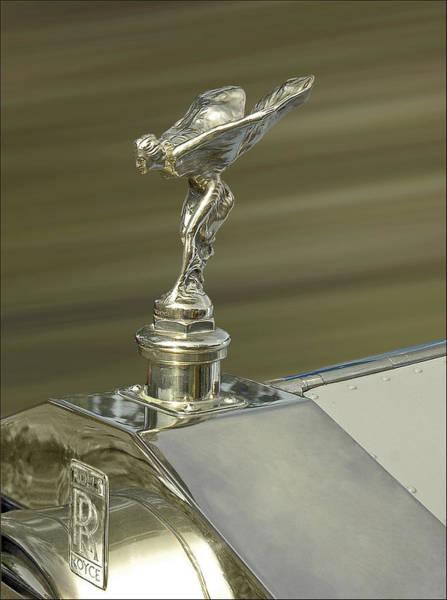 Photograph - Rolls Royce Spirit Of Ecstasy Hood Ornament In Gold  by Ginger Wakem