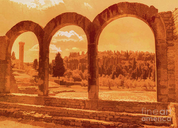 Roman Arches At Fiesole Art Print