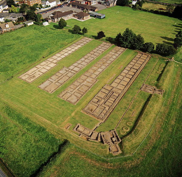 Roman Fort Photograph - Roman Barracks by Skyscan/science Photo Library
