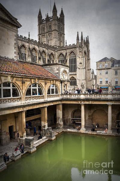 Bath Abbey Photograph - Roman Bath 01 by Svetlana Sewell