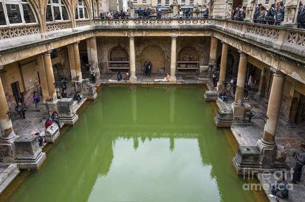 Bath Abbey Photograph - Roman Bath 02 by Svetlana Sewell