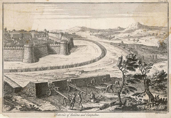 Wall Art - Drawing - Roman Batteries Of Ballistas by Mary Evans Picture Library