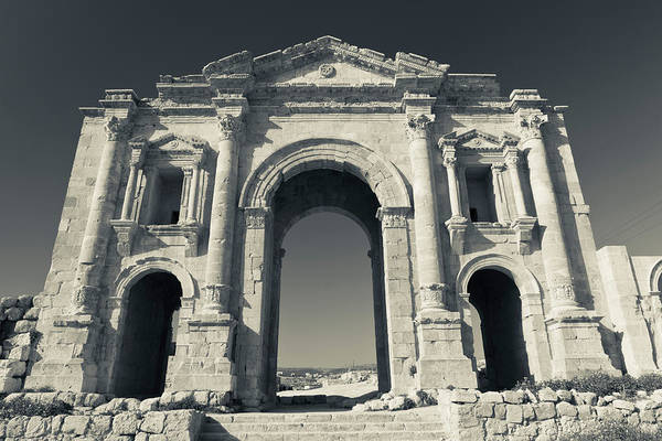 Jerash Photograph - Roman-era Hadrians Arch, Jerash, Jordan by Panoramic Images