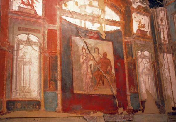 Wall Art - Photograph - Roman Fresco by Tony Craddock/science Photo Library