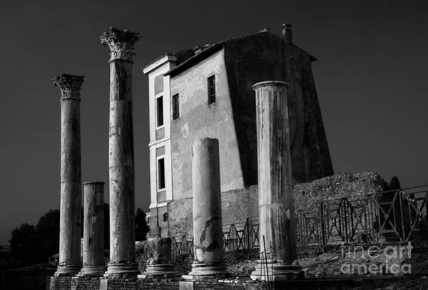 Photograph - Roman Ruin At Palatine Hill by Julian Cook