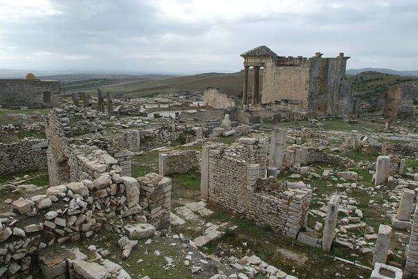 Berber Wall Art - Photograph - Roman Ruins At Dougga by Marco Ansaloni / Science Photo Library