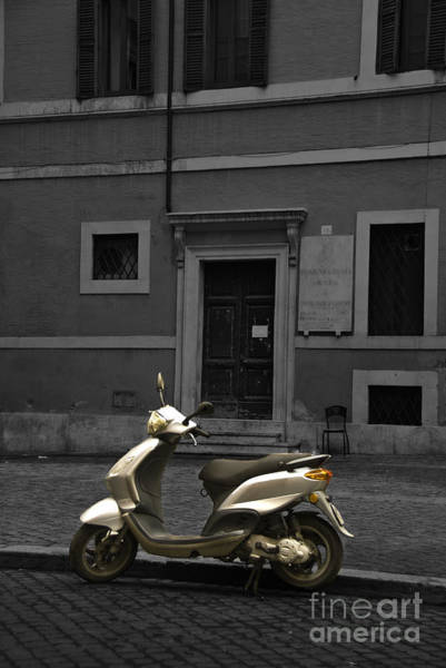 Photograph - Roman Scooter by James Lavott