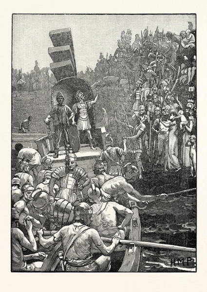 Roman Soldier Drawing - Roman Soldiers Leaving Britain by English School