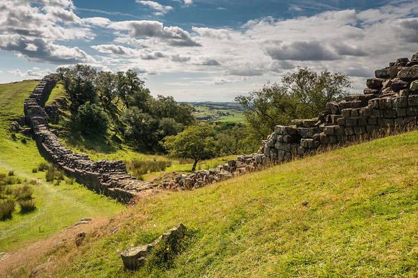 Greenhead Photograph - Roman Wall At Walltown by David Head