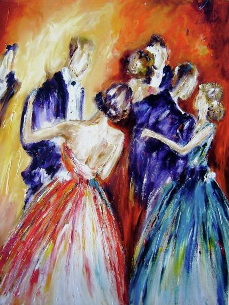 Irish Dance Painting - Dance In Romance by Mary Cahalan Lee- aka PIXI