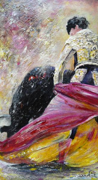 Toros Painting - Romance by Miki De Goodaboom