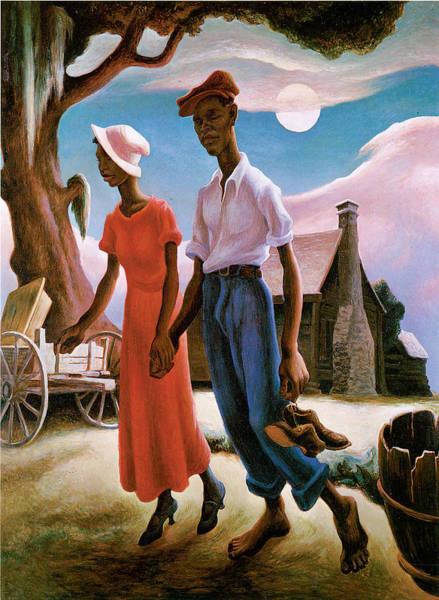 Hart Wall Art - Painting - Romance by Thomas Hart Benton