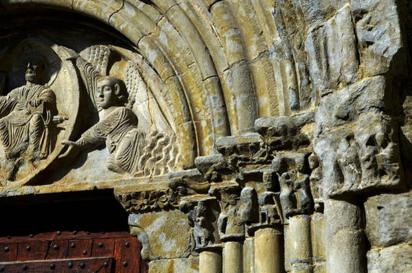Pantocrator Photograph - Romanesque Front In Spanish Church Nuestra Sra De Baldos In Montanana by RicardMN Photography