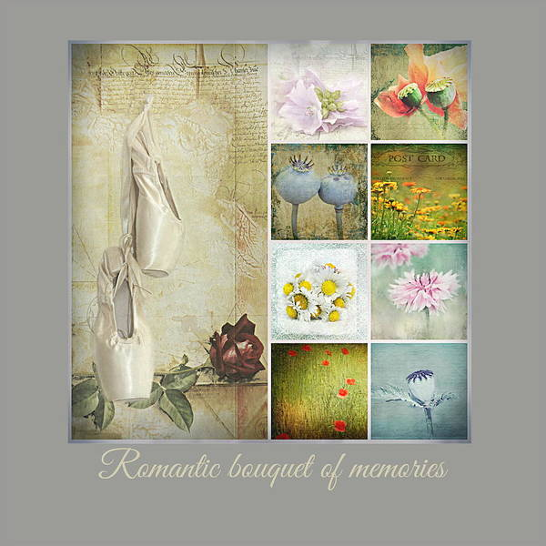 Love Letter Mixed Media - Romantic Bouquet Of Memories by Heike Hultsch
