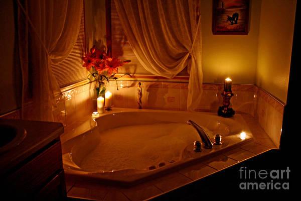 Bubble Bath Photograph - Romantic Bubble Bath by Kay Novy