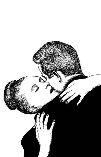 Wall Art - Drawing - Romantic Couple by Karl Addison