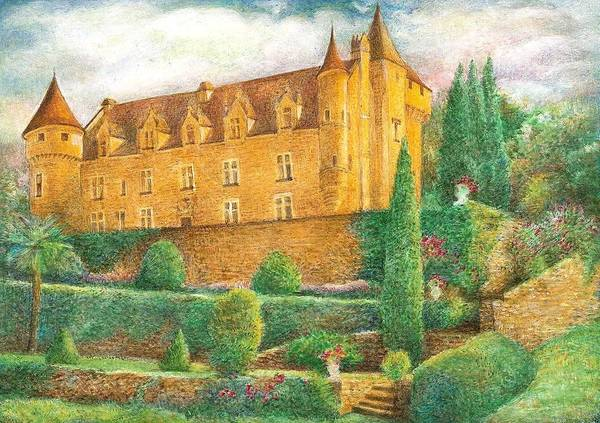 Painting - Romantic French Chateau by Judith Cheng