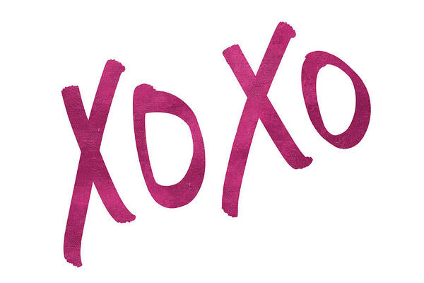 Wall Art - Digital Art - Romantic Pink Xoxo by Sd Graphics Studio