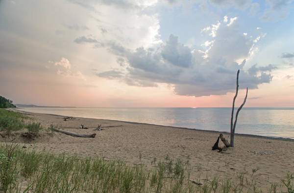 Romantic Sunset At Agate Beach Art Print