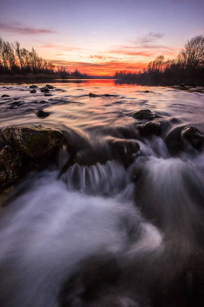 Riverscape Wall Art - Photograph - Romantic Sunset by Davorin Mance