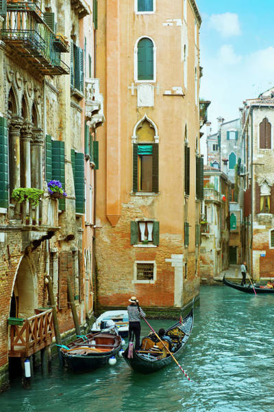Gondola Photograph - Romantic Venice Views From Gondola by Caracterdesign