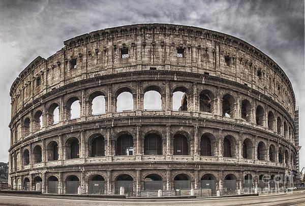 Coliseum Photograph - Rome Colosseum 02 by Antony McAulay