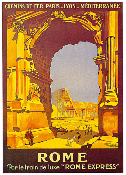 Painting - Rome Express 1921 by Roger Borders