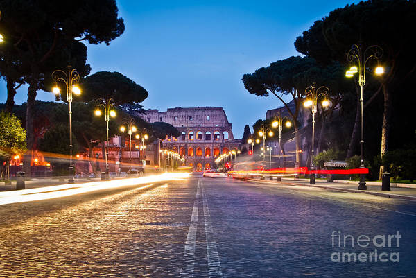 Photograph - Rome - Italy - Reaching The Colosseum by Carlos Alkmin