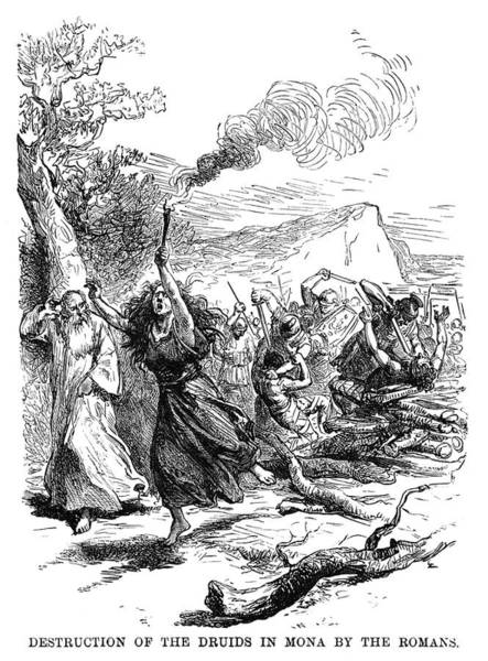 Wall Art - Painting - Rome Massacre Of Druids by Granger