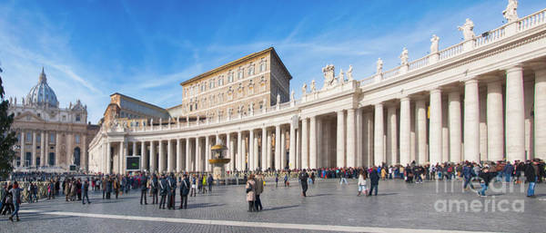 Saint Peters Square Photograph - Rome Saint Peters Square 01 by Antony McAulay