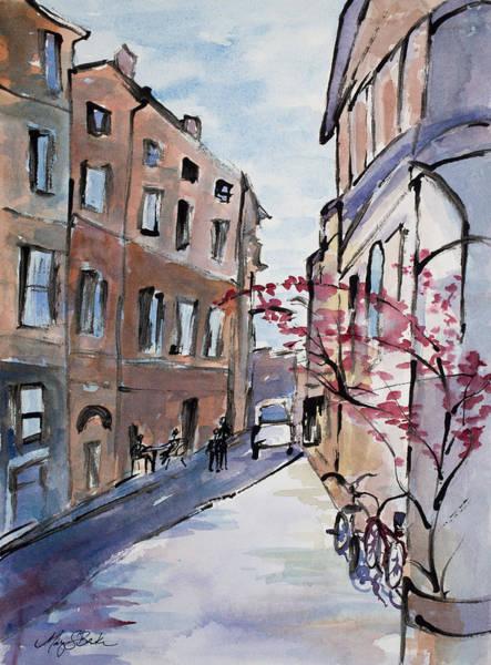 Dining Al Fresco Painting - Rome Street Scene IIi by Mary Benke