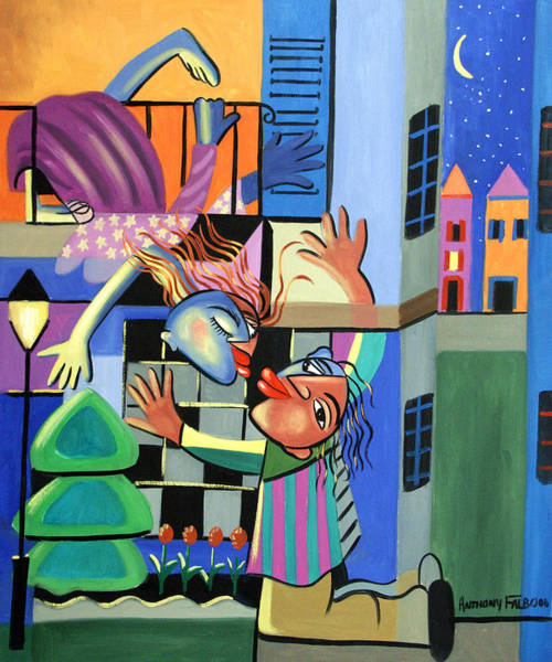Romeo Painting - Romeo And Juliet by Anthony Falbo