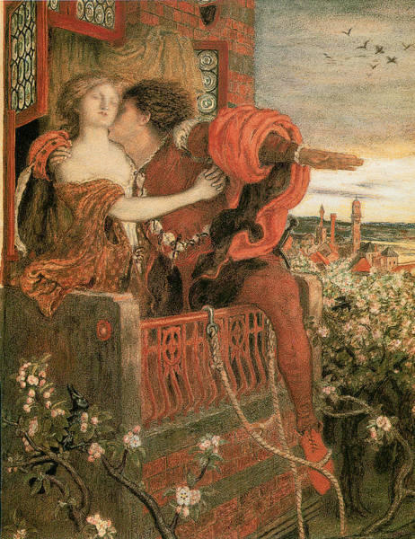 Romeo Painting - Romeo And Juliet by Ford Madox Brown