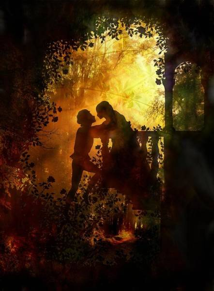 Romeo And Juliet Digital Art - Romeo And Juliet - The Love Story by Lilia D