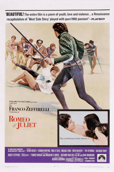 Romeo And Juliet Photograph - Romeo And Juliet, Us Poster Art, Bottom by Everett