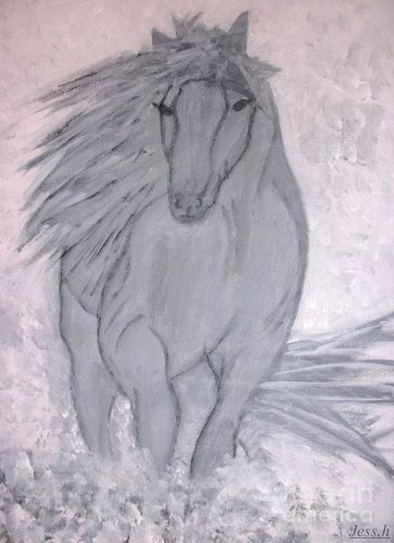 Painting - Romeo The White Stallion by Jessie Art
