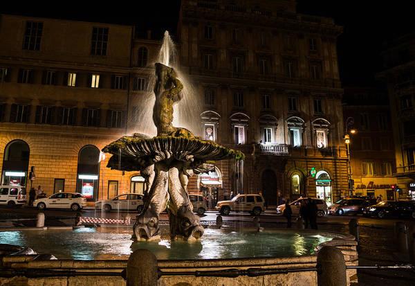 Photograph - Rome's Fabulous Fountains - Fontana Del Tritone by Georgia Mizuleva