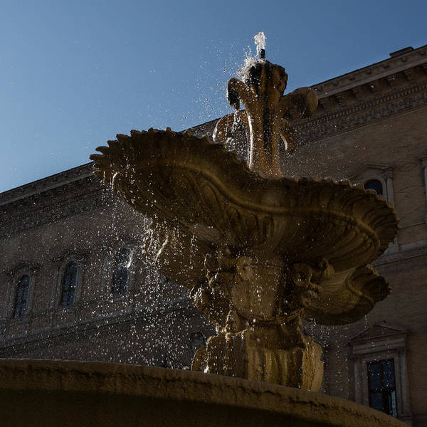 Photograph - Rome's Fabulous Fountains - Piazza Farnese Fountain by Georgia Mizuleva