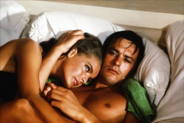 Romy Schneider And Alain Delon Art Print