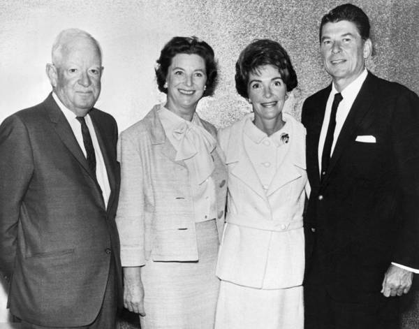 Ronald Reagan Photograph - Ronald And Nancy Reagan by Underwood Archives