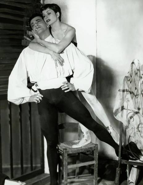 Male Photograph - Ronald Petit And Renee Jeanmarie by Horst P. Horst