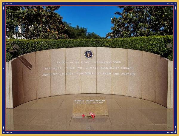 Photograph - Ronald Reagan Memorial Site by Glenn McCarthy Art and Photography