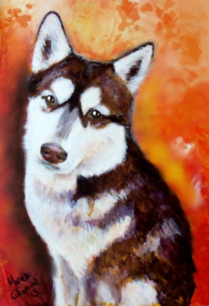 Arctic Wolf Painting - Rondo by Marcello Cicchini