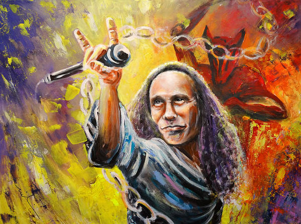 Painting - Ronnie James Dio by Miki De Goodaboom