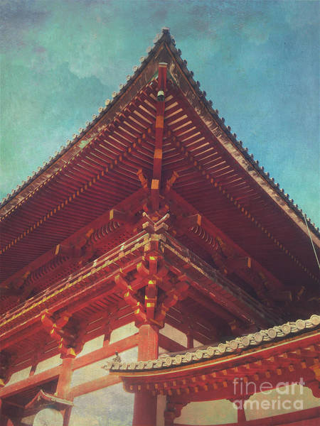 Photograph - Roof Detail Of Todai-ji Temple Central Gate In Nara Japan by Beverly Claire Kaiya