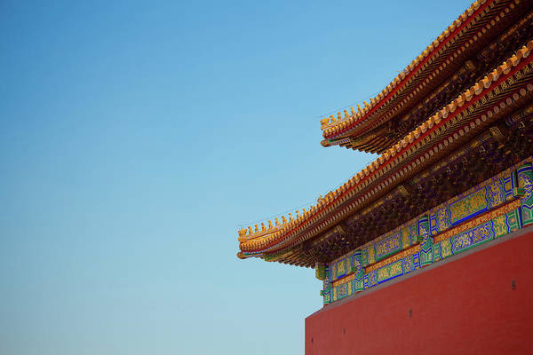 Forbidden City Photograph - Roof Of Forbidden City, Beijing, China by Pan Hong