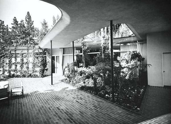 Patio Photograph - Roof Over Patio by Fred Lyon