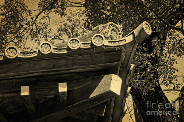 Photograph - Roof Tile Details Of A Buddhist Temple II by Beverly Claire Kaiya