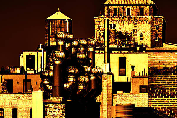Roof Yellow Orange Art Print