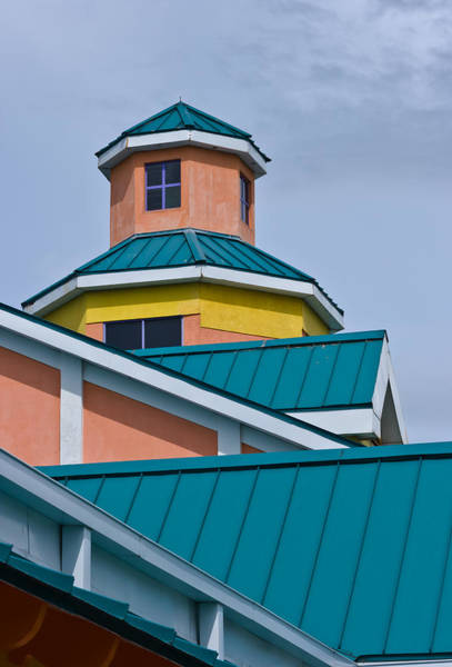 Photograph - Rooflines And Windows At Festival Place by Ed Gleichman